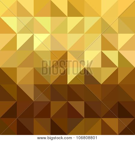 Gold Triangle Square Seamless Pattern Low Poly