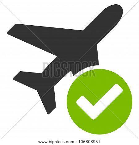 Aircraft Ok Icon