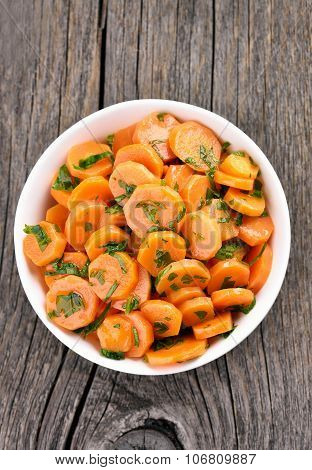 Vegetarian Salad With Carrot