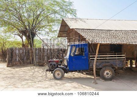 Old Truck In A Maryanmar Farm Yard
