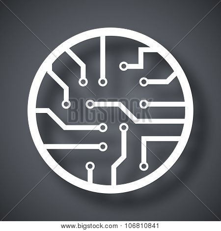 Vector Circuit Board Icon