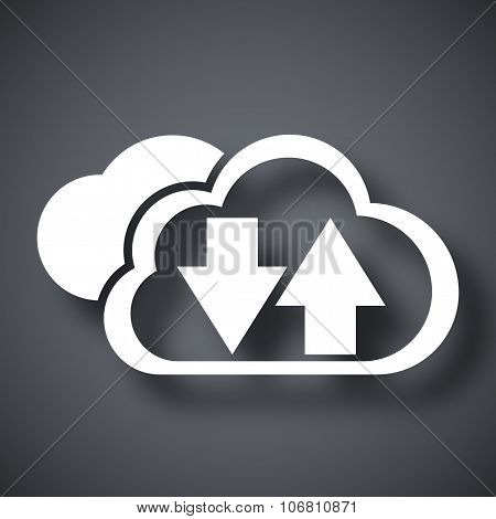 Vector Cloud Computing Download And Upload Icon