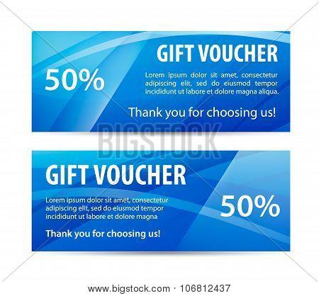 Vector set of gift vouchers
