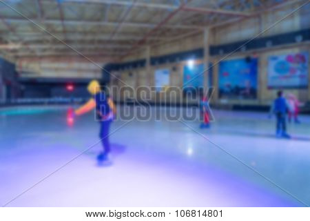 Abstract blur playing ice skating