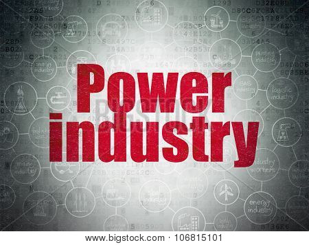 Industry concept: Power Industry on Digital Paper background