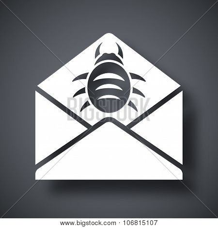 Vector Infected Email Icon