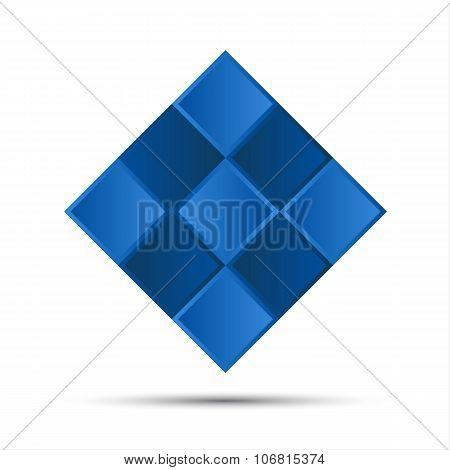 Simple blue graphic symbol
