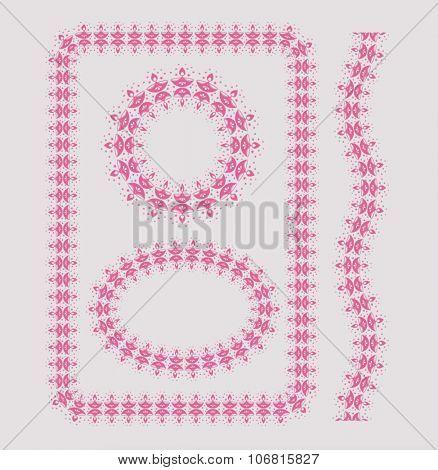 Diwali Festival decorative border. Set of various vector borders.