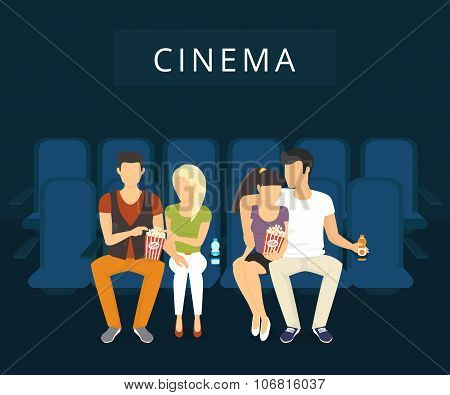 Cinema with people