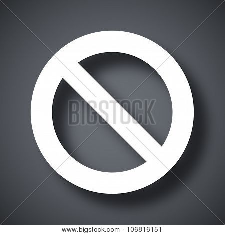 Vector Forbidden Sign Icon