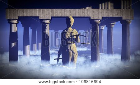 Themis - lady of justice. Conceptual illustration