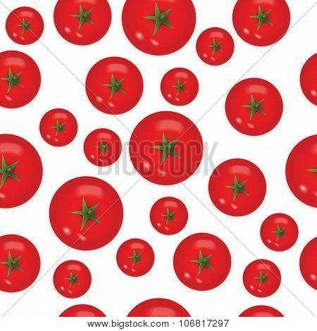 Seamless Pattern Of Tomato
