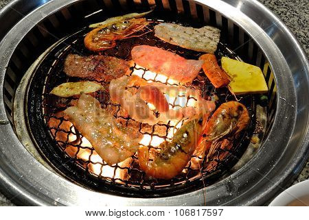 Korea Bbq Grill Food.