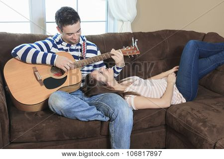 Sofa home guitar