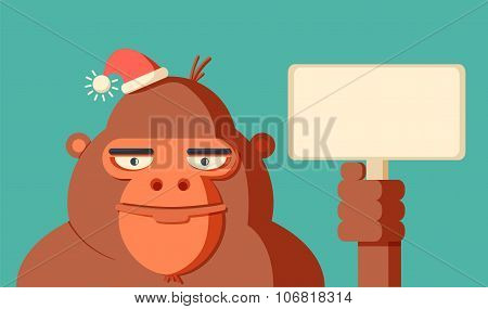 Year of monkey 2016. New Year. Vector Illustration