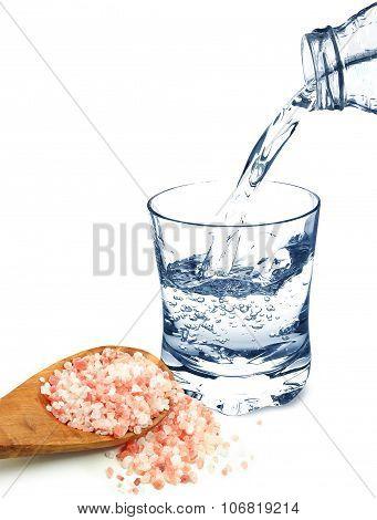water and Himalayan salt