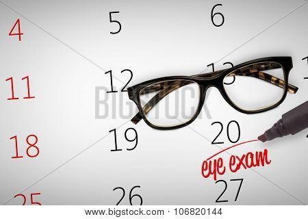 eye exam against reading glasses