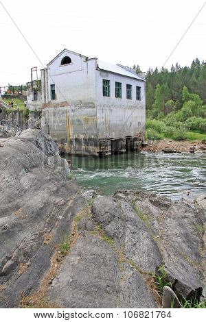 Siberia, Russia - June 11, 2012: The Old Hydroelectric Power Station On The River Chemal In Altai Mo