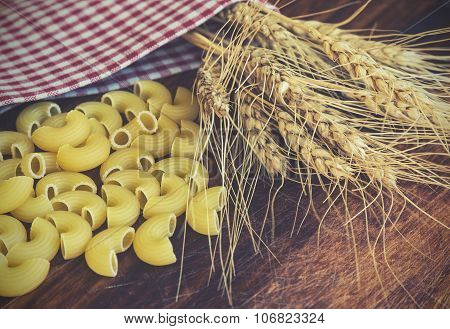 Ears Of Wheat And Pasta