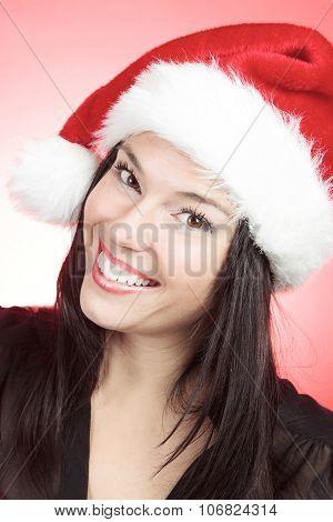 Woman christmas hat