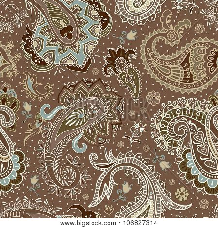 Vector seamless Paisley pattern