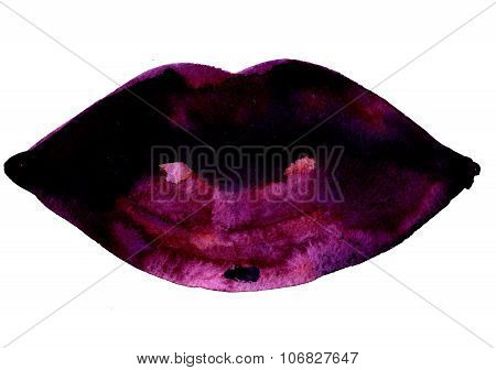 Dark Magenta Plush Lips