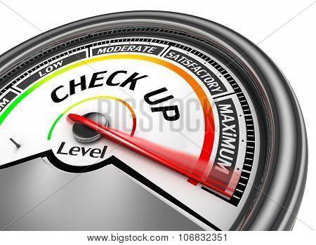 Check Up Level To Maximum Conceptual Meter