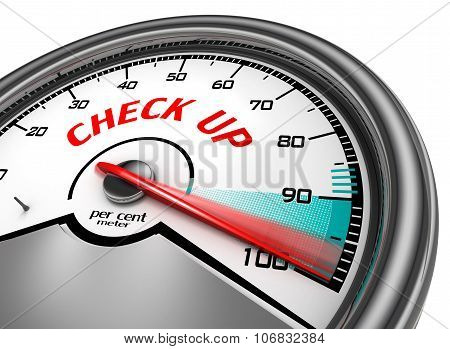 Check Up To Hundred Per Cent Conceptual Meter