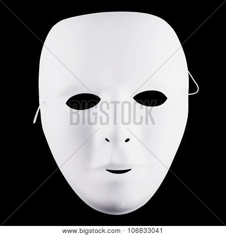 White Mask Over Black