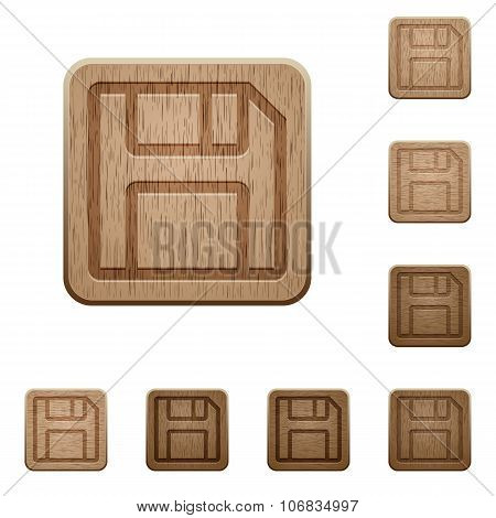 Save Wooden Buttons