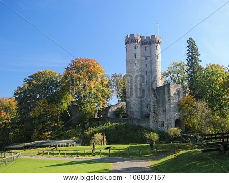 Kasselburg Castle In Vulkaneifel, Rhineland-palatinate, Germany