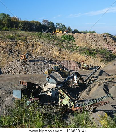 Machinery At A Quarry In Vulkaneifel, Germany