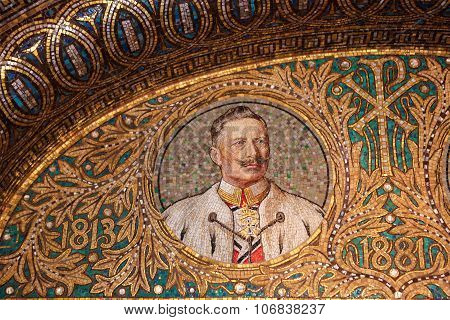 Mosaic Of Kaiser Wilhelm Ii