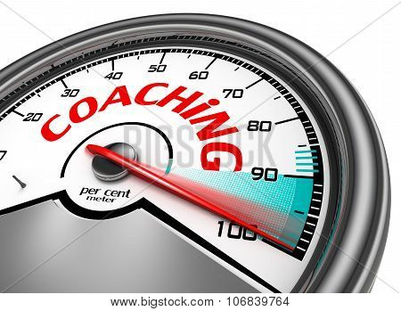Coaching Level Conceptual Meter Indicate Hundred Per Cent