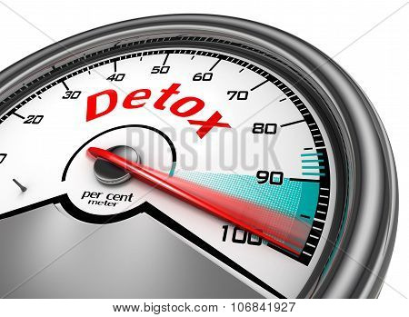 Detox Level Conceptual Meter Indicate Hundred Per Cent
