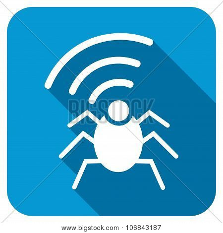 Radio Spy Bug Longshadow Icon