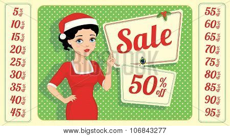 Christmas Sale Numbers Brunette