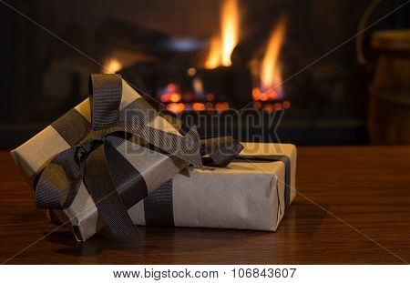 Brown Gift Package