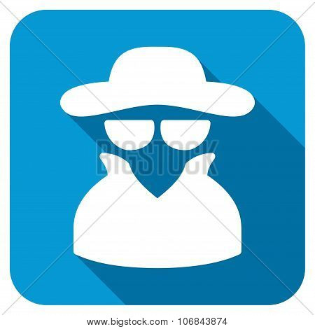 Spy In Hat Longshadow Icon