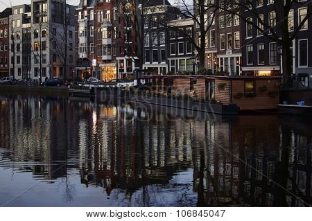 Amsterdam canal early morning