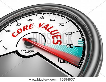 Core Values To Hundred Per Cent Conceptual Meter