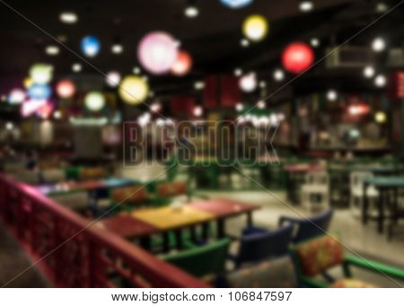 Blurred Restaurant In Chinese Style