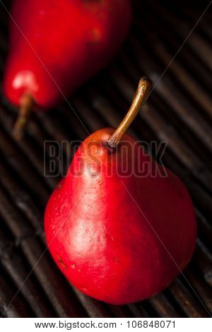 Raw Organic Red Pears