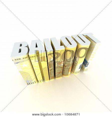 european union 200 bailout 3-dimensional text
