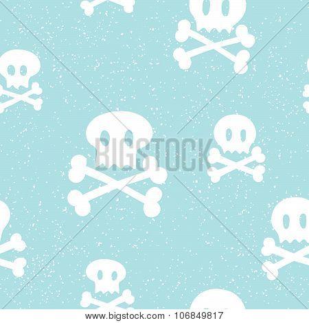 Crossbones pattern blue