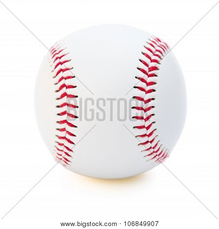 Baseball On A White Background With Clipping Path