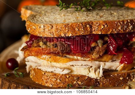 Homemade Leftover Thanksgiving Sandwich