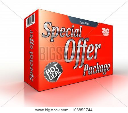 Special Offer Package Concept Red Advertisement