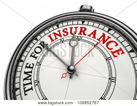 Time For Insurance Concept Clock