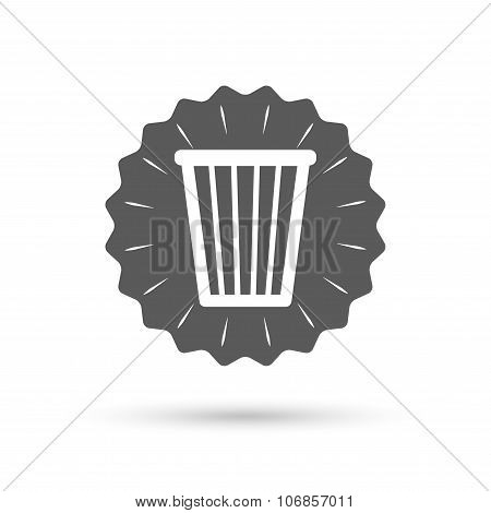 Recycle bin sign icon. Bin symbol.